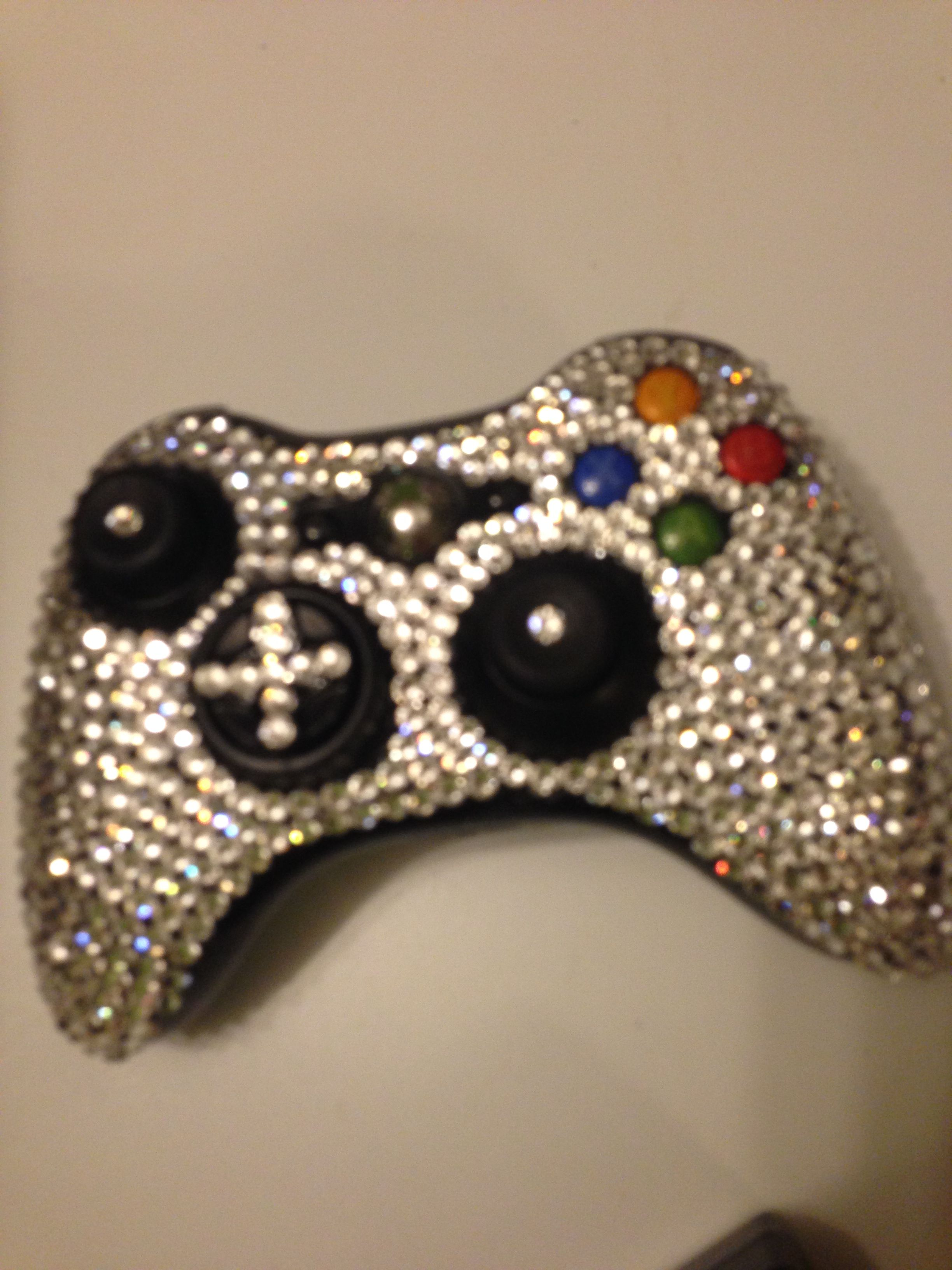 Xbox controller rhinestoned by yours truly