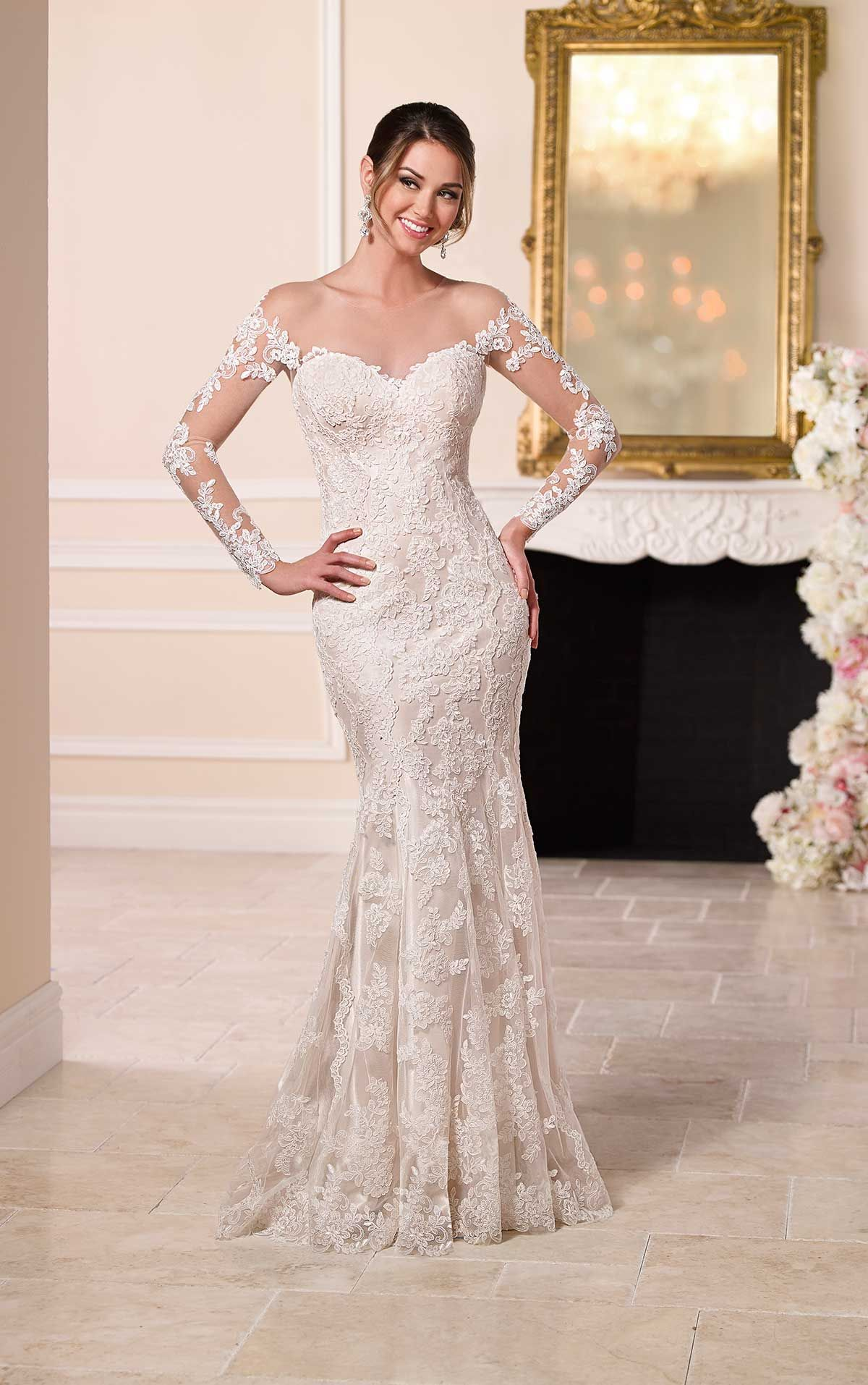 Wedding Dresses with Illusion Lace Sleeves