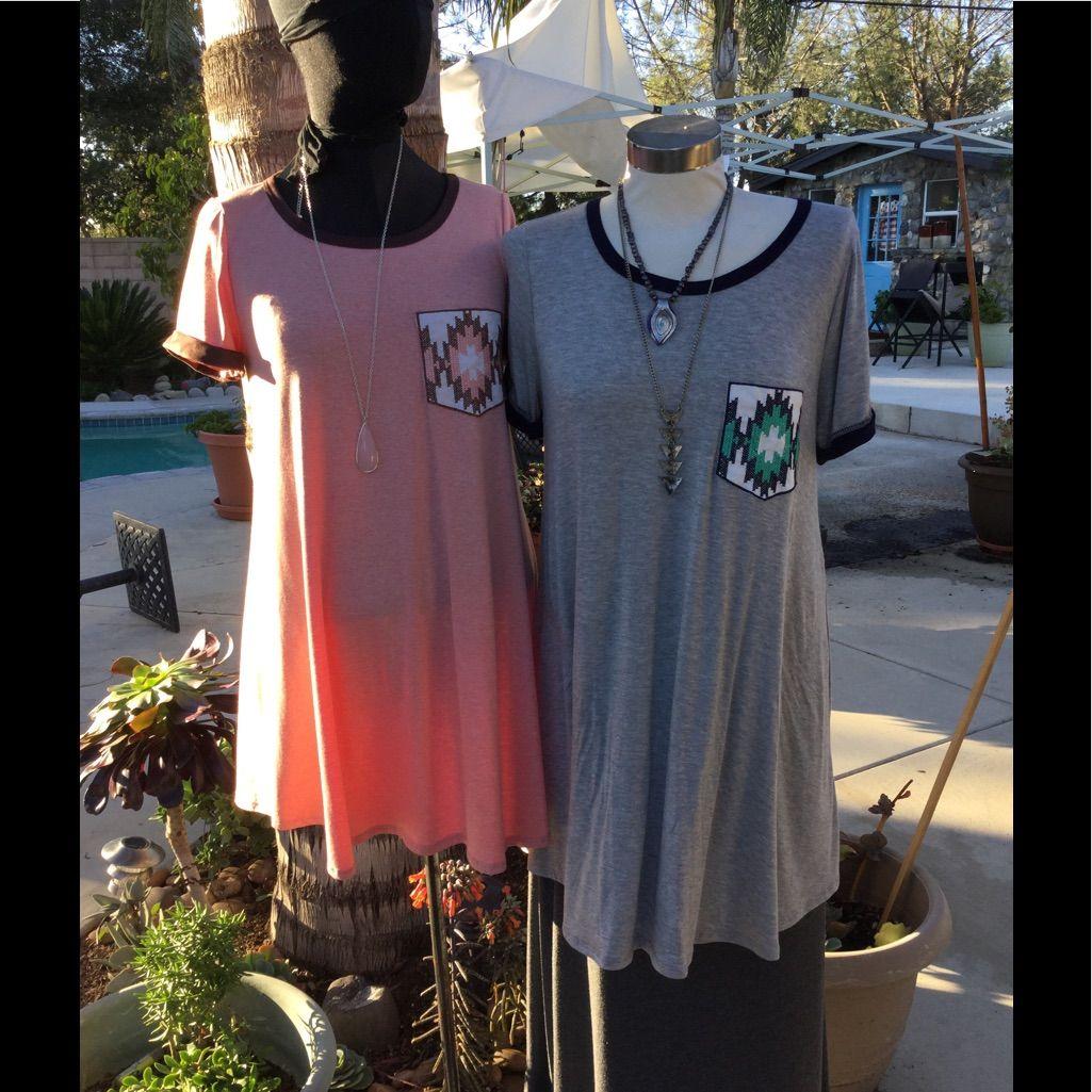Pocket Detail Swing Style Tunic Dress S-M-L