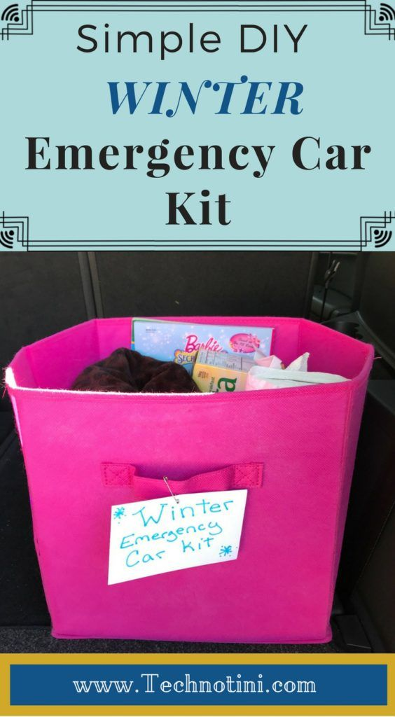 How to Make a Simple Winter Emergency Car Kit
