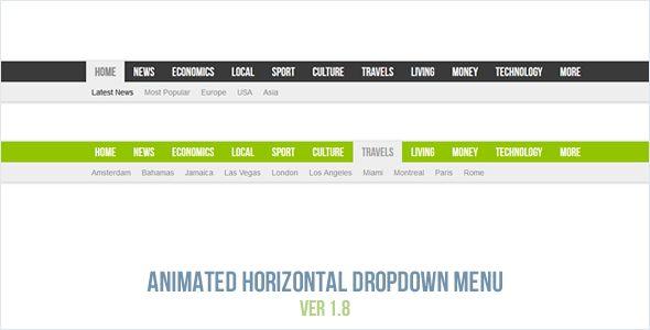 Animated Horizontal Dropdown Menu Wordpress Plugins Html Css