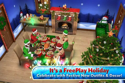 The Sims Freeplay Celebrates 1st Anniversary With Expansive Game Update 1st Anniversary Holiday Decor Holiday Cheer
