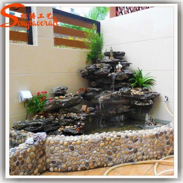 Source Indoor Artificial Waterfall Fountain Fiberglass Rock