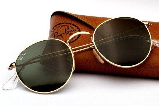 Óculos De Sol Retrô Rayban Redondo Original Ray Ban - R  249 60f870a82699f