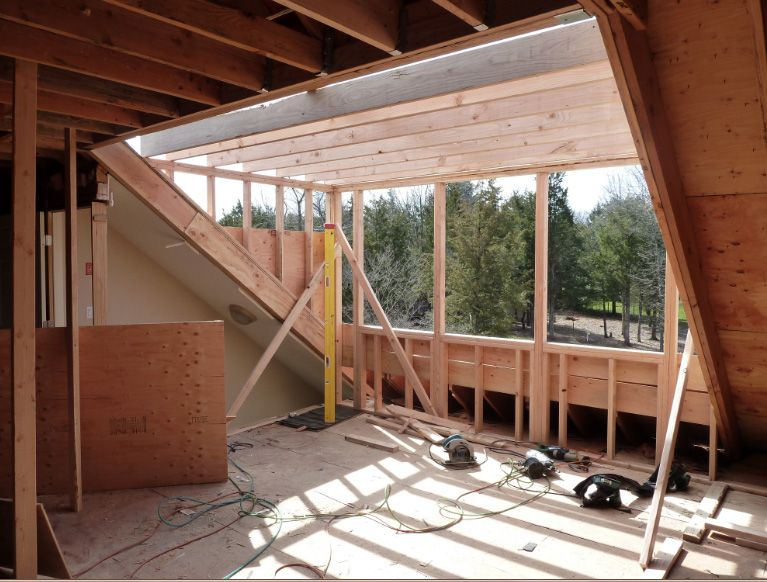 A E Construction S Blog Dormer Addition A Day In Review Attic Remodel Attic Renovation Minimalist Decor