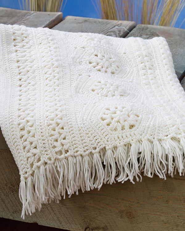 Best Free Crochet » Free Crochet Hexagon Panel Afghan Pattern from ...