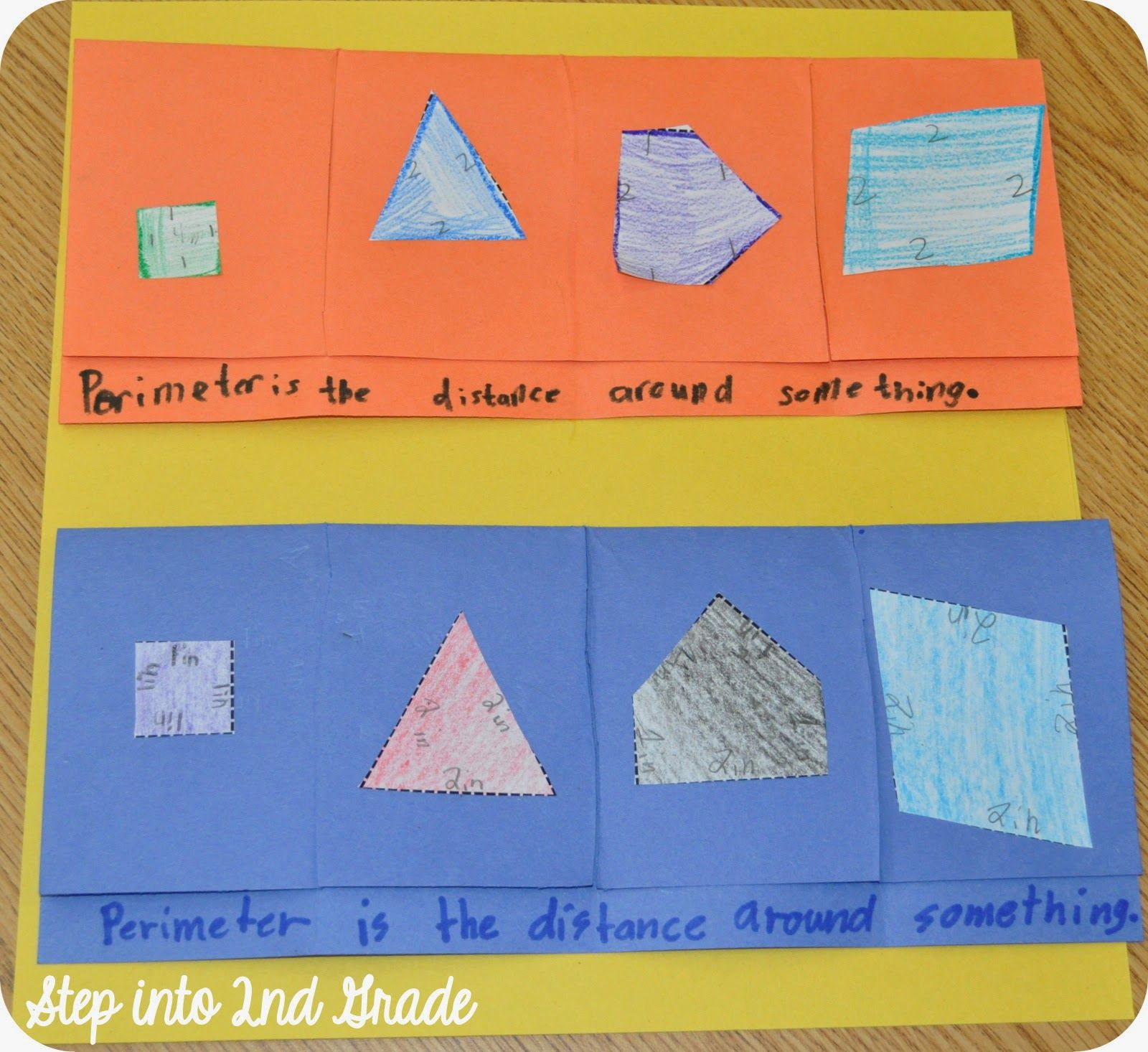 Step Into 2nd Grade With Mrs Lemons Perimeter Flapbook
