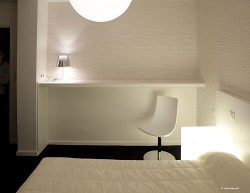 chambre moderne blanche | chambre à coucher design | Déco ...