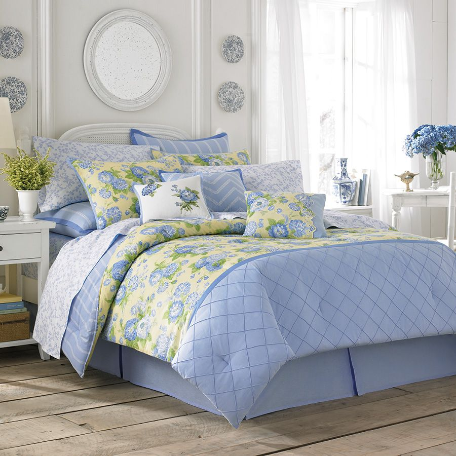 Laura Ashley Salisbury Bedding Collection From Beddingstyle Com Laura Ashley Bedding Comforter Sets Blue Comforter Sets