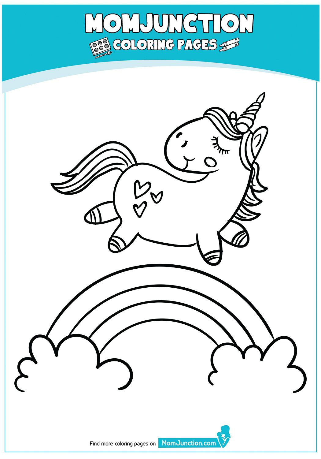 Print Coloring Image Momjunction Unicorn Coloring Pages Kids Christmas Coloring Pages Coloring Pages