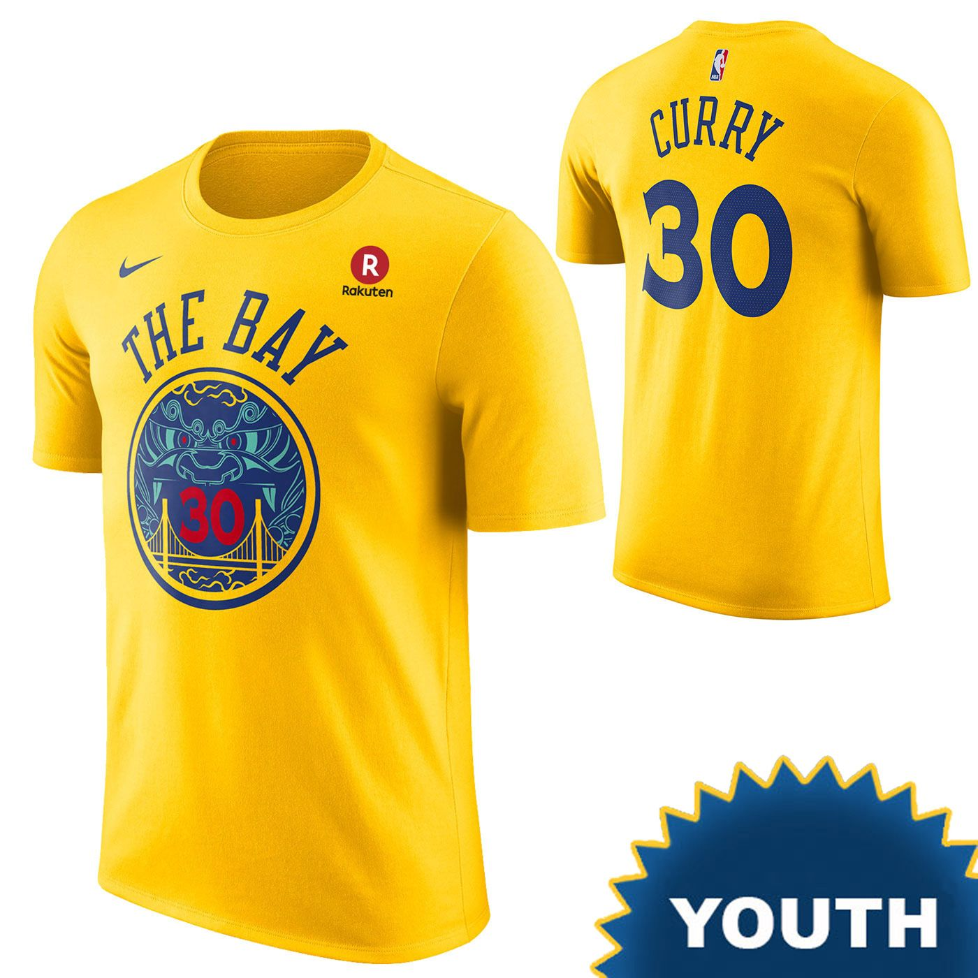 best loved 3964f 7c9c0 Golden State Warriors Nike Dri-FIT Youth City Edition ...