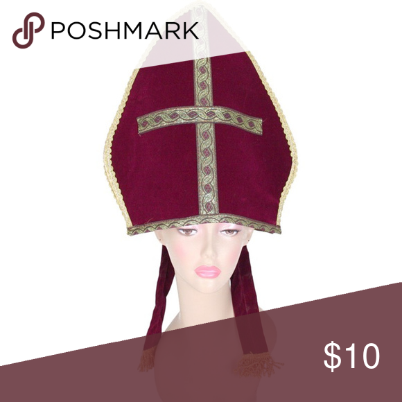 New Royal Pope Hat Costume Accessory Bless your adoring