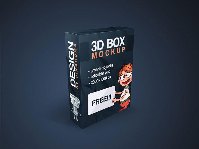 3D Box Mockup | Mockups PSD Templates for Designers | Box mockup