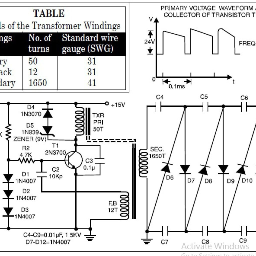 High Voltage Generator Circuit Diagram - Free Diagram For ...