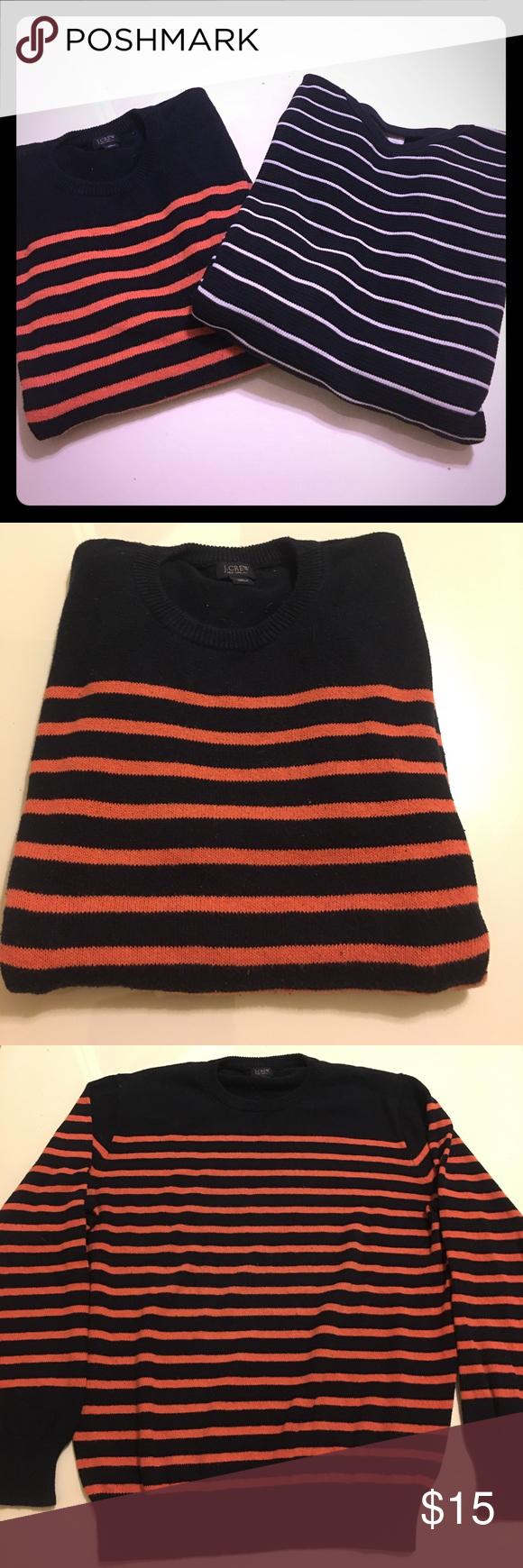 Bundle of J.Crew Men's Striped Sweaters Medium | Navy stripes