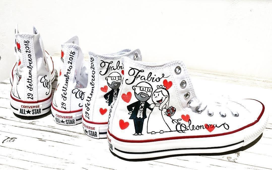 Converse sposa personalizzate (by Mapet Shoe) | Scarpe da