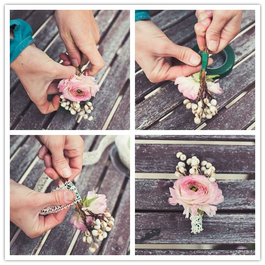 Do it yourself project romance and lace boutonniere boutonnieres do it yourself project romance and lace boutonniere wedding solutioingenieria Image collections