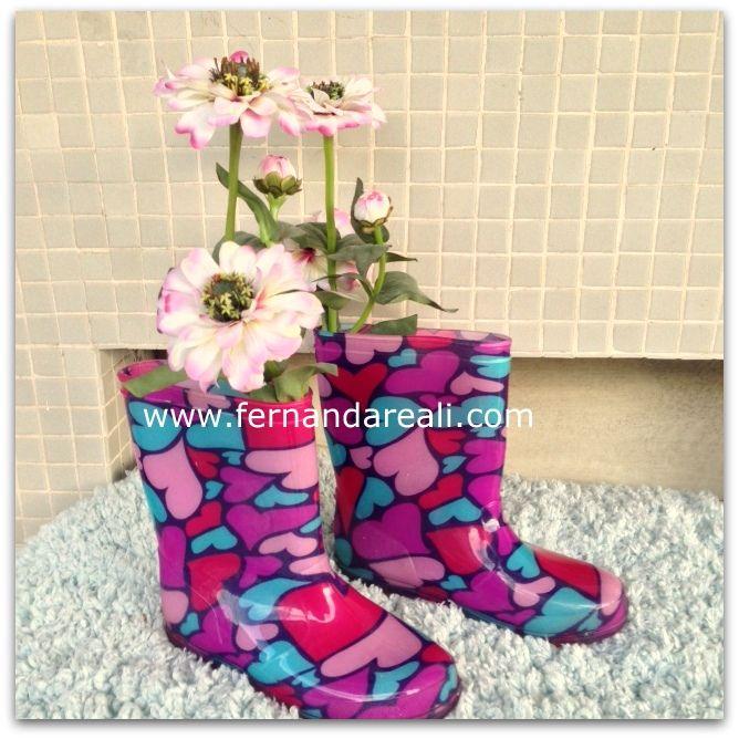 Galochas, botas de chuva, Rain Boots, Springtime. É Primavera!  - Fernanda Reali