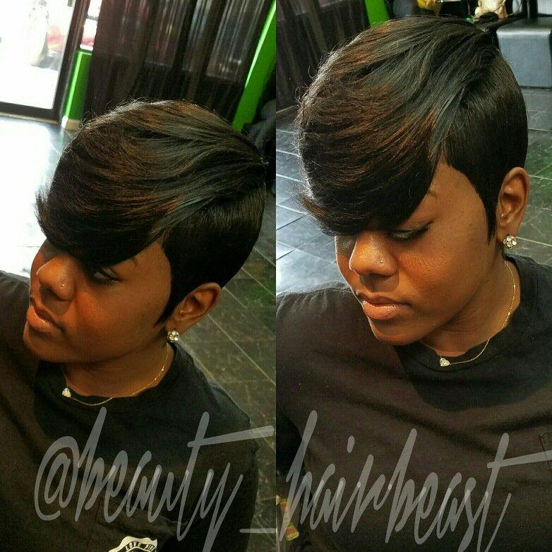 Short Hair Raxorcut Bangs Layers Short Quick Weave Hairstyles