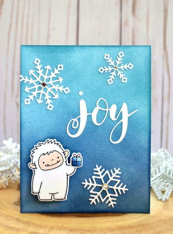 Best Friend Christmas Card - Handmade Christmas Card - Unique