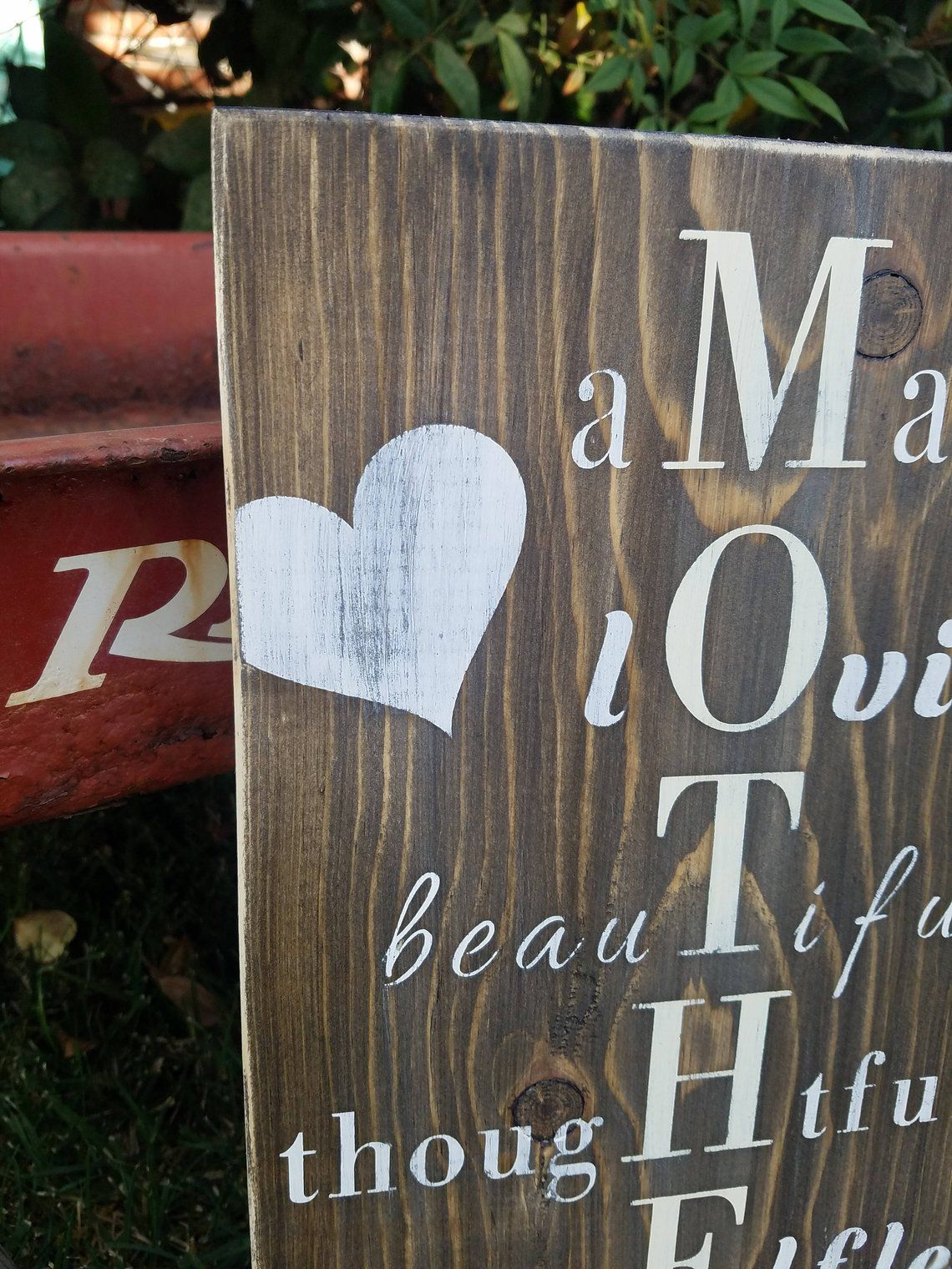 Mother wood sign rustic mother sign farmhouse style sign