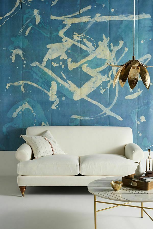"""NEW ANTHROPOLOGIE AUDREY ABSTRACT MURAL WALLPAPER 108"""" x"""
