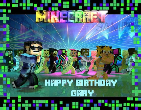 Minecraft edible cake topper image 14 and 12 sheet Cake Images