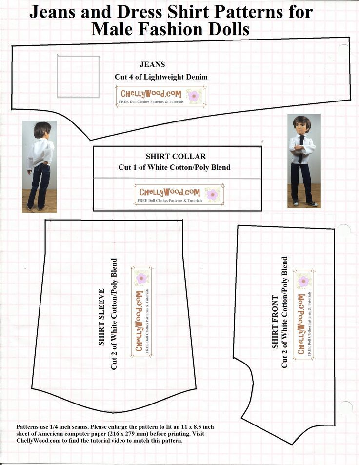 Image result for free printable ken doll clothes patterns | Sewing ...