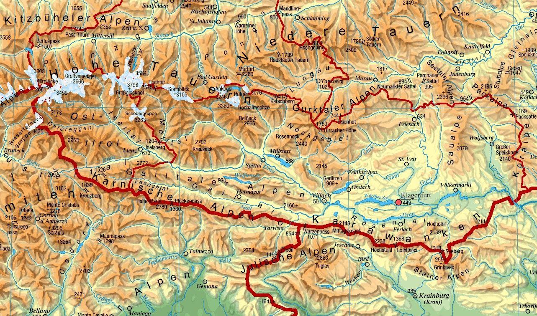 Karnten Mit Bildern Landkarte Osterreich Landkarte Karten