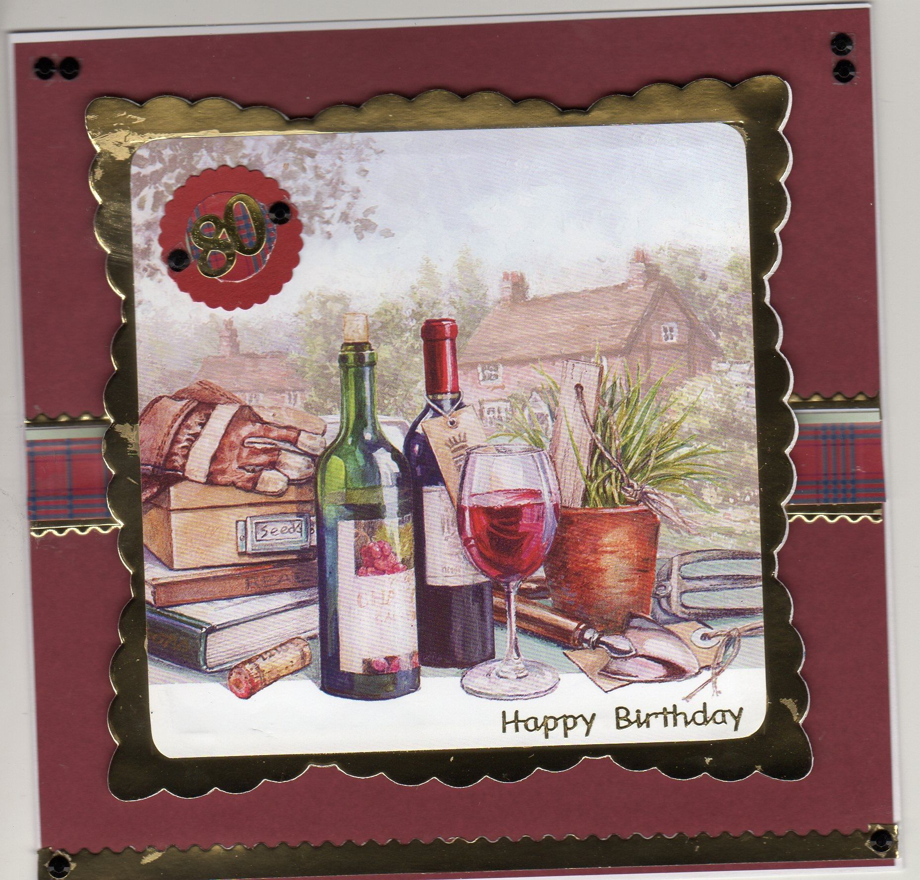 Hunkydory - from the little books. wine for 80th birthday.