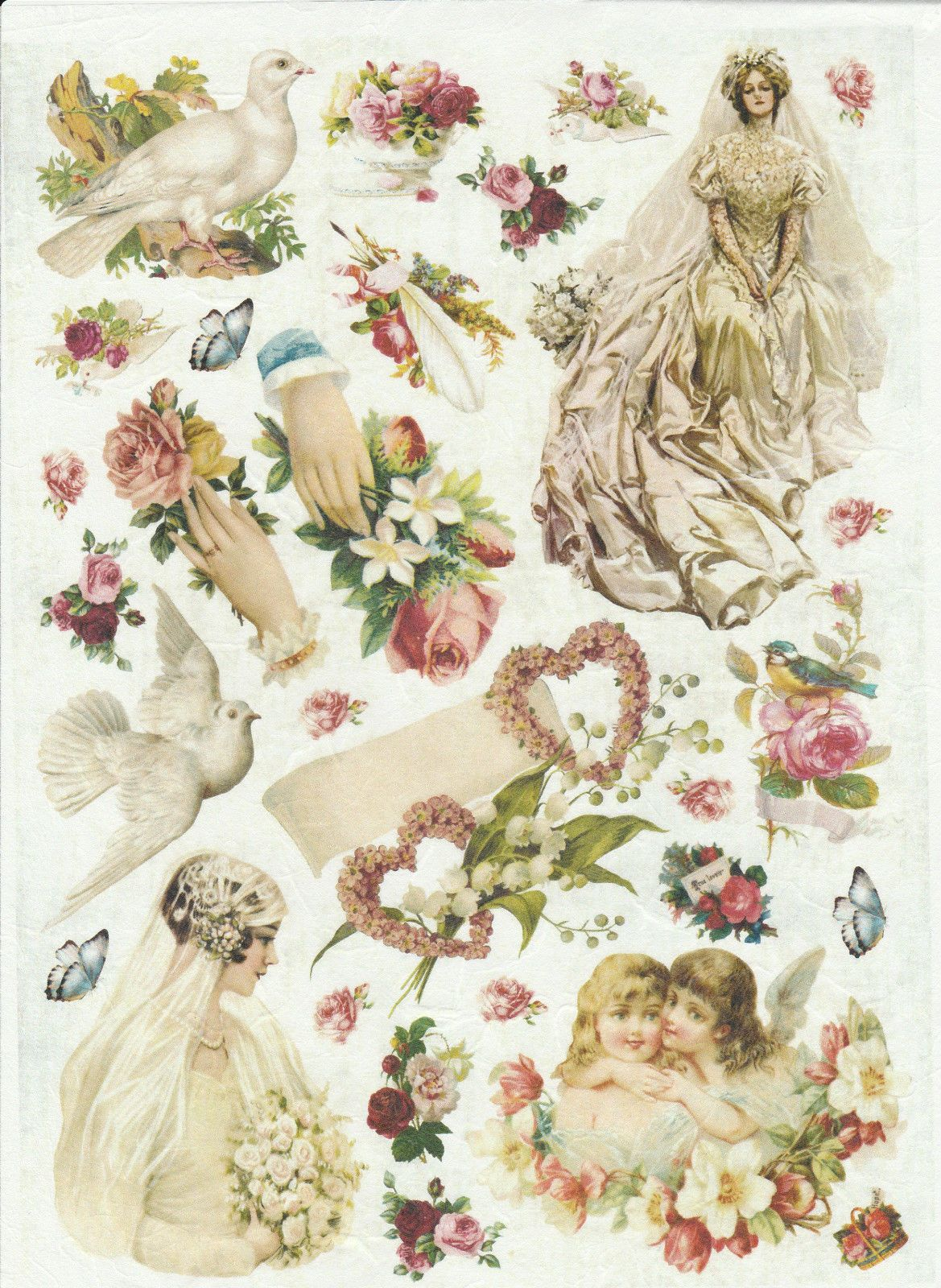 Rice Paper for Decoupage Decopatch Scrapbook Craft Sheet Vintage Wedding Love in Crafts, Cardmaking & Scrapbooking, Decoupage   eBay