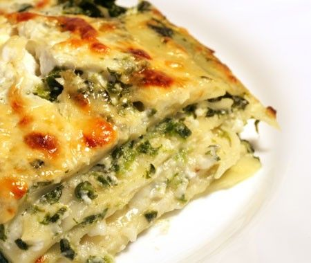 Gluten Free/Low Carb Spinach, Ricotta & Pesto Lasagna