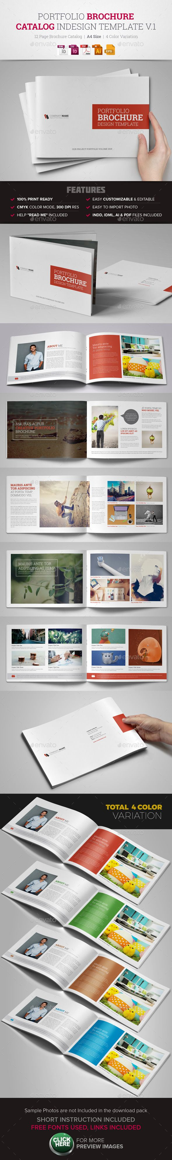 Portfolio Brochure InDesign Template … | Pinteres…