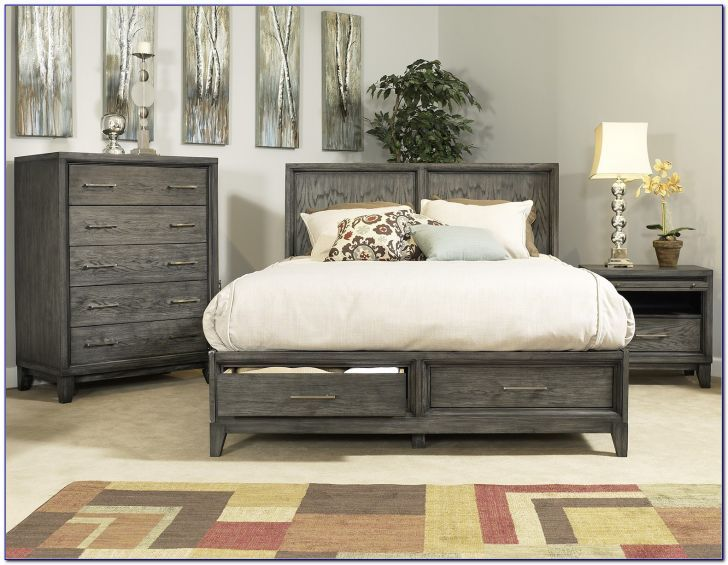 Best Gray Washed Bedroom Furniture Sets With Under Bed ...