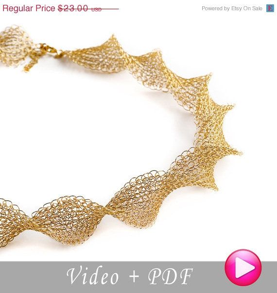 25 CIJ SALE Wire crochet pattern of INFINITY necklace por Yoola ...