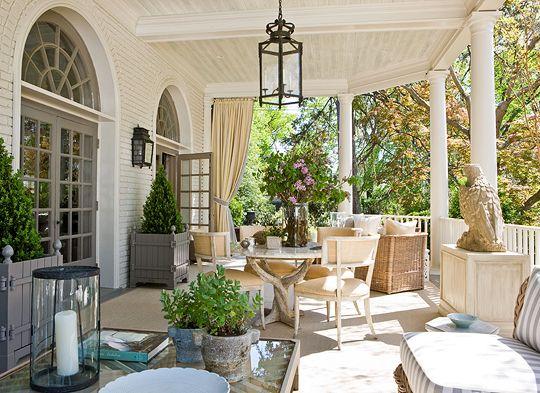 Pretty Porches And Terraces Outdoor Entertaining Porch Terrace