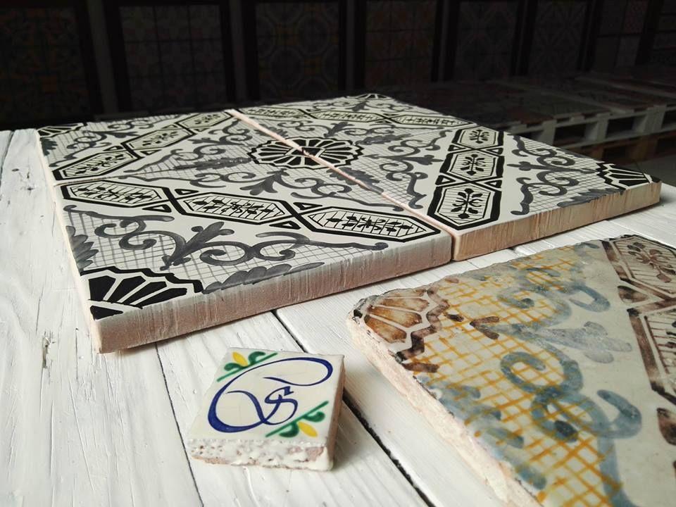 Maioliche dipinte a mano comed ceramiche #maiolica #majolica #tiles