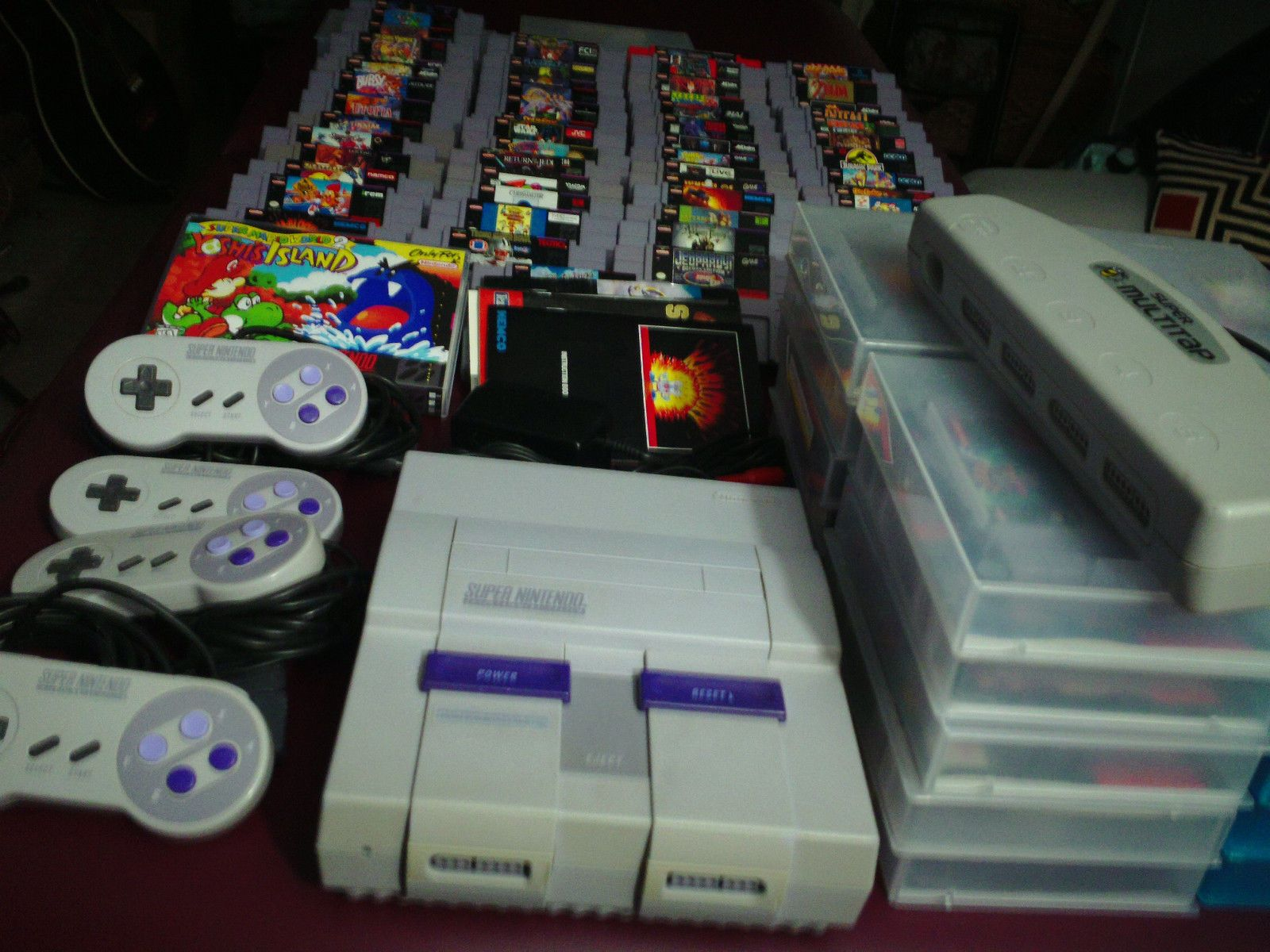 Huge Super Nintendo Lot, Rare SNES Collection, 79 games, 4 ...