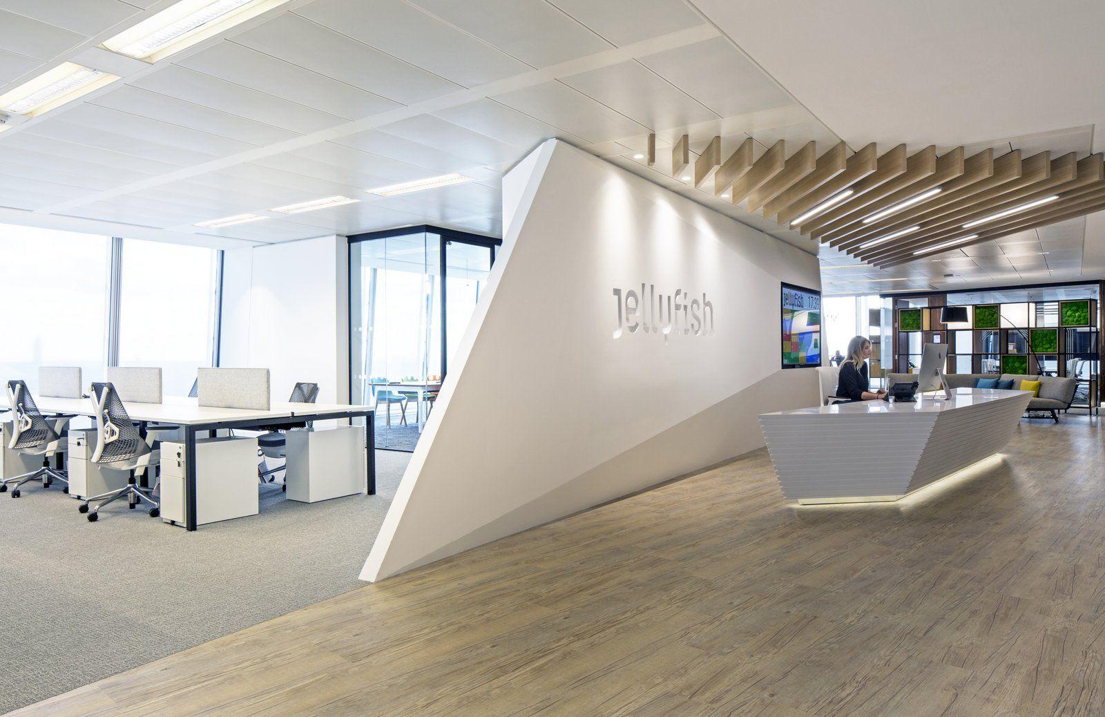 Jellyfish Offices - London - Office Snapshots | Office interior design,  Corporate office design, Corporate interior design