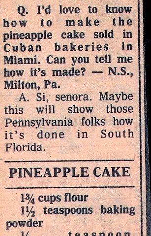 Pineapple Cake Recipe Beverly Bakery