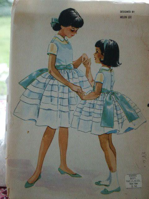 Vintage 1960s McCall's Child Girl Sheer Full Skirt Dress & Petticoat Slip Dress 5383 Sewing Pattern Size 12. $9.00, via Etsy.