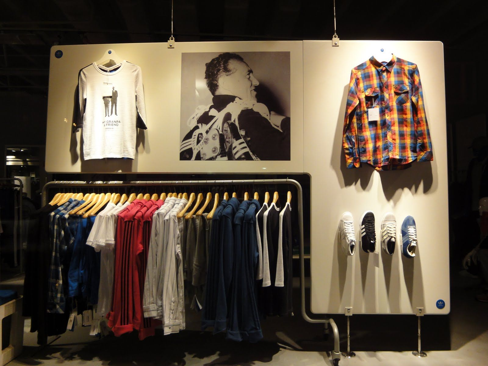 """Adidas Display Wall """"clothing Rack With Difference"""