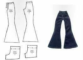 Calça e shorts boneca molde