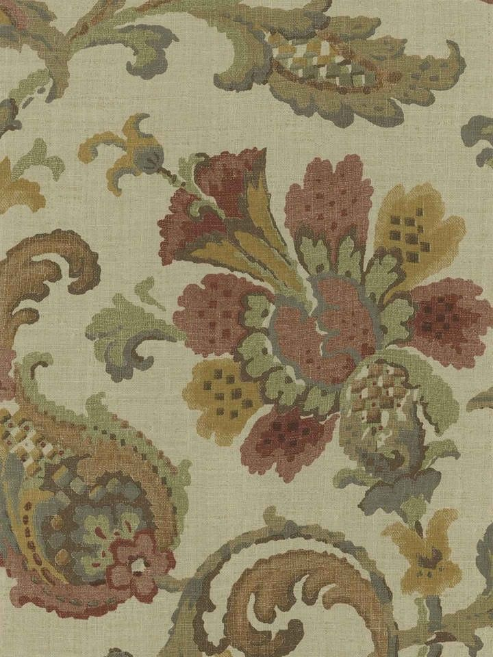 Interior Place - Pomegranate Antique Jacobean Wallpaper ...