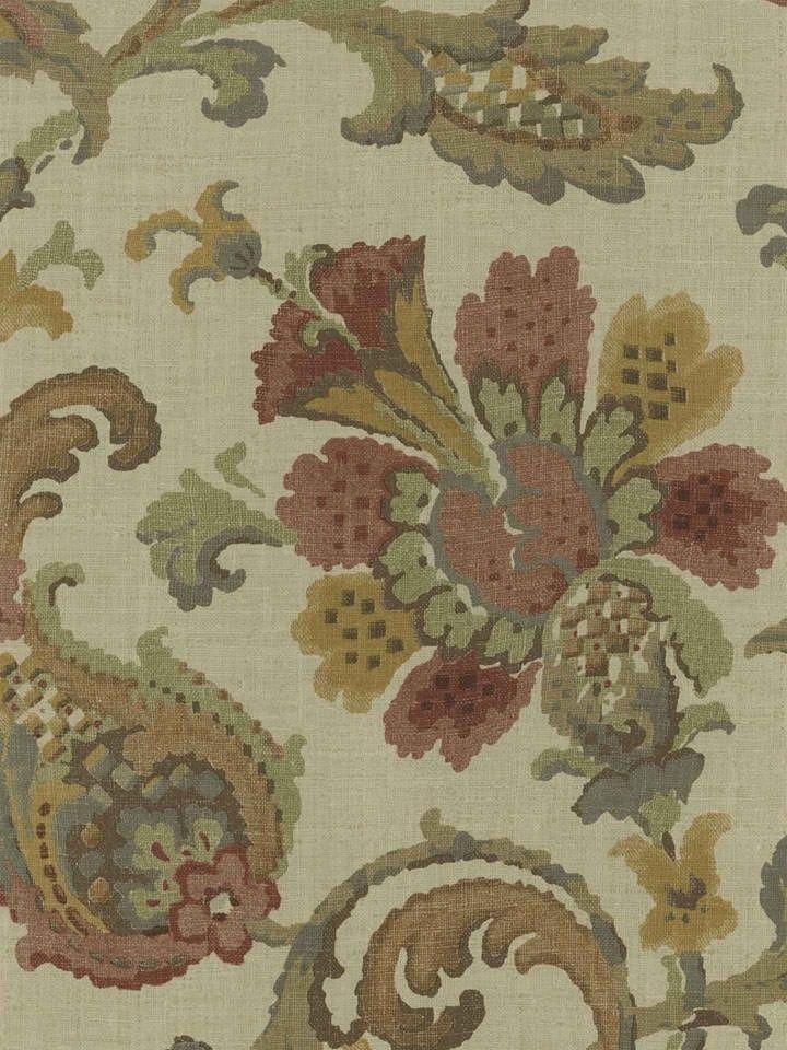 Interior Place - Pomegranate Antique Jacobean Wallpaper ...