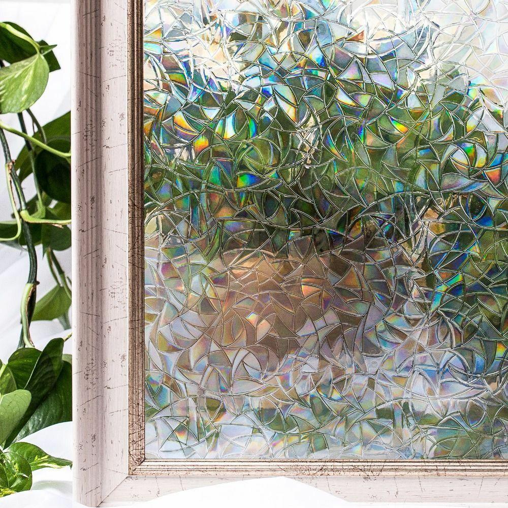 Stickers Windows Cover Film Home Decorative No Glue 3d Glass Embossed Frosted Fensterfolie Fensterfolie Sichtschutz Fenster Klebefolie