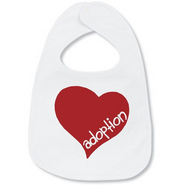 Adoption Bib from Vinyl Expressions for $6.00