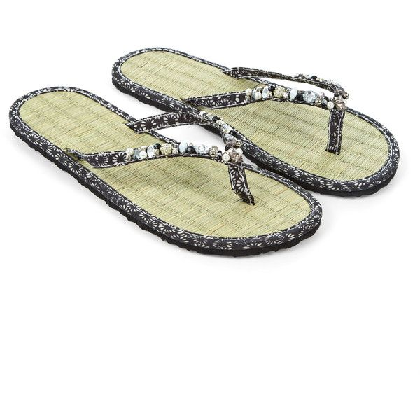 b080424fa Monsoon Eclipse Sparkle Seagrass Flip Flops ( 29) ❤ liked on Polyvore  featuring shoes