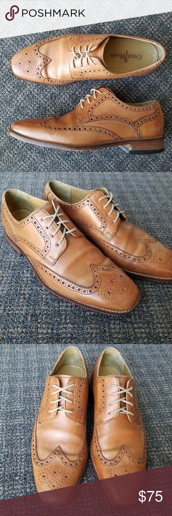 Cole Haan Wing Tip Oxford Shoes Air