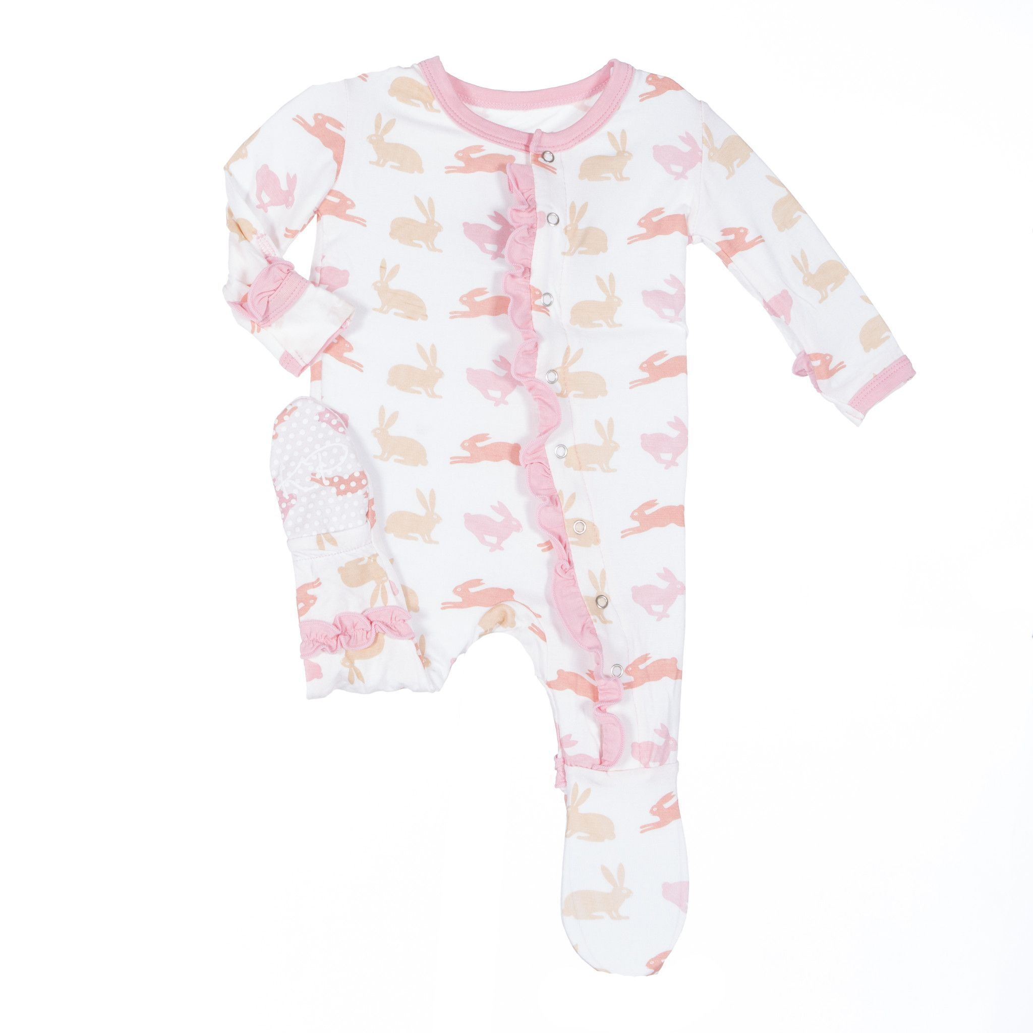 3c5568979 Super soft and cozy Kickee Pants baby girl footie - Adorable natural ...